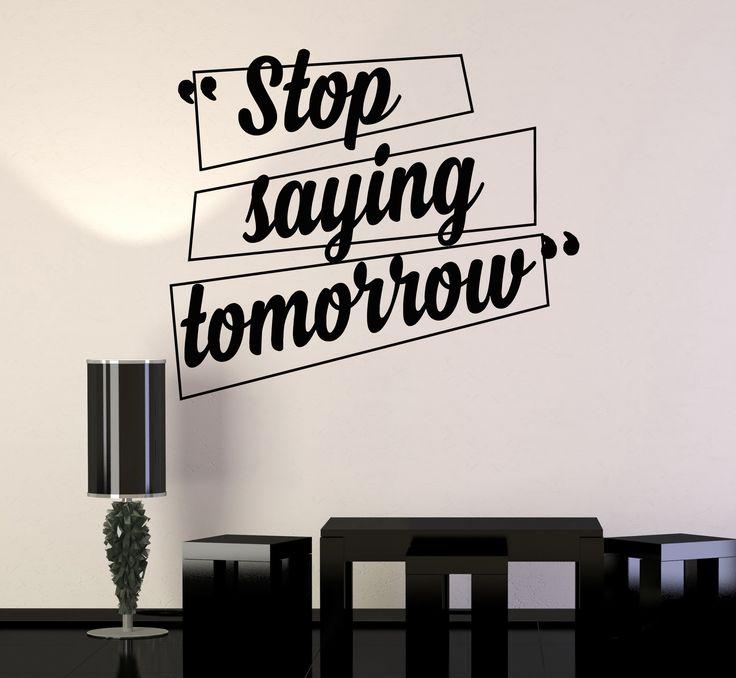 Description vinyl wall decal motivation quotes office