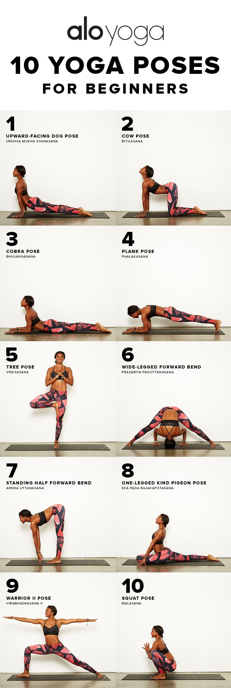 Yoga Poses Workouts For Beginners 10 Yoga Poses For Beginners Yoga Yogasequence Sequence Inspiration Www Aloyo Fitnessviral Magazine Your Number One Source For Daily Health And Fitness Motivation