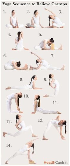 Yoga Poses Workouts For Beginners A Yoga Sequence To Help Relieve Menstrual Cramps Infographic Sexual Health Fitnessviral Magazine Your Number One Source For Daily Health And Fitness Motivation