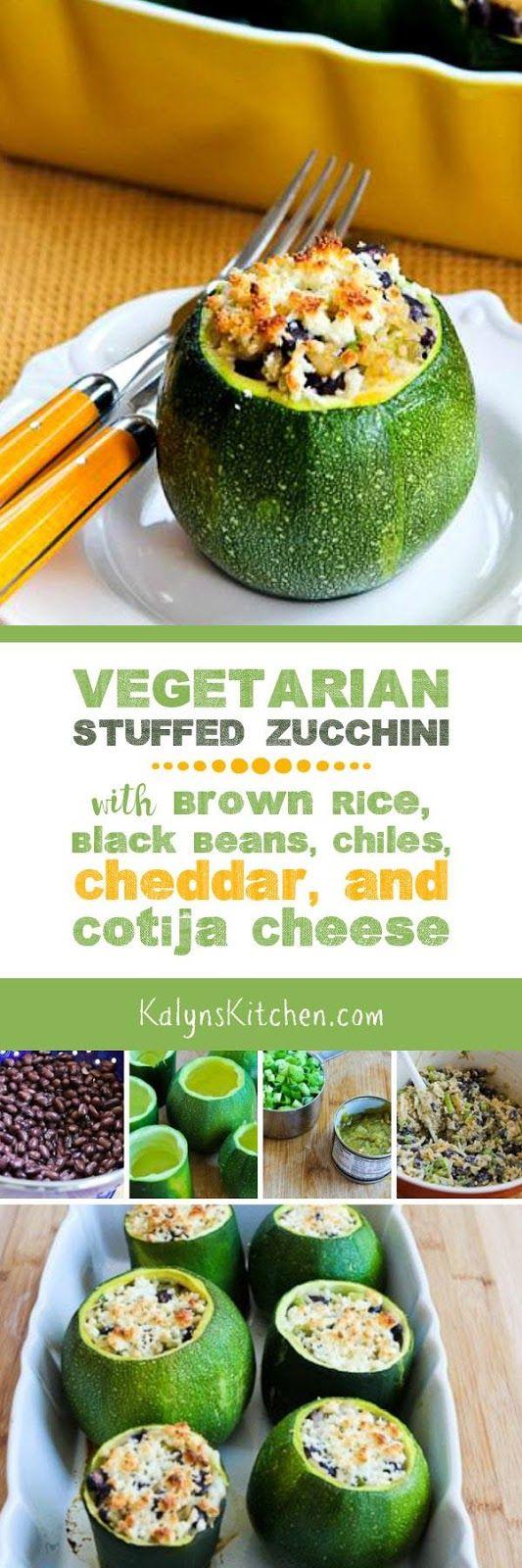 Healthy Recipes : Vegetarian Stuffed Zucchini Recipe with ...