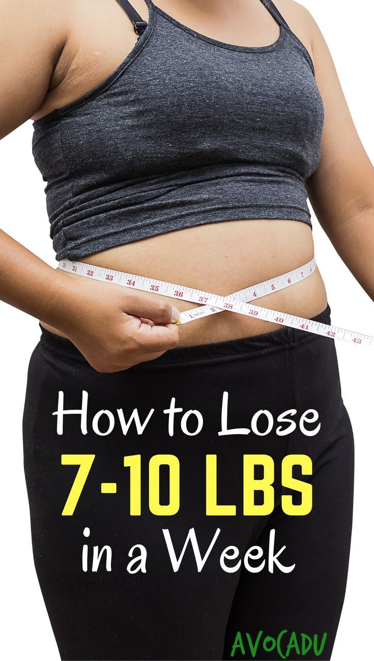 how to lose ten pounds in a week diet plan