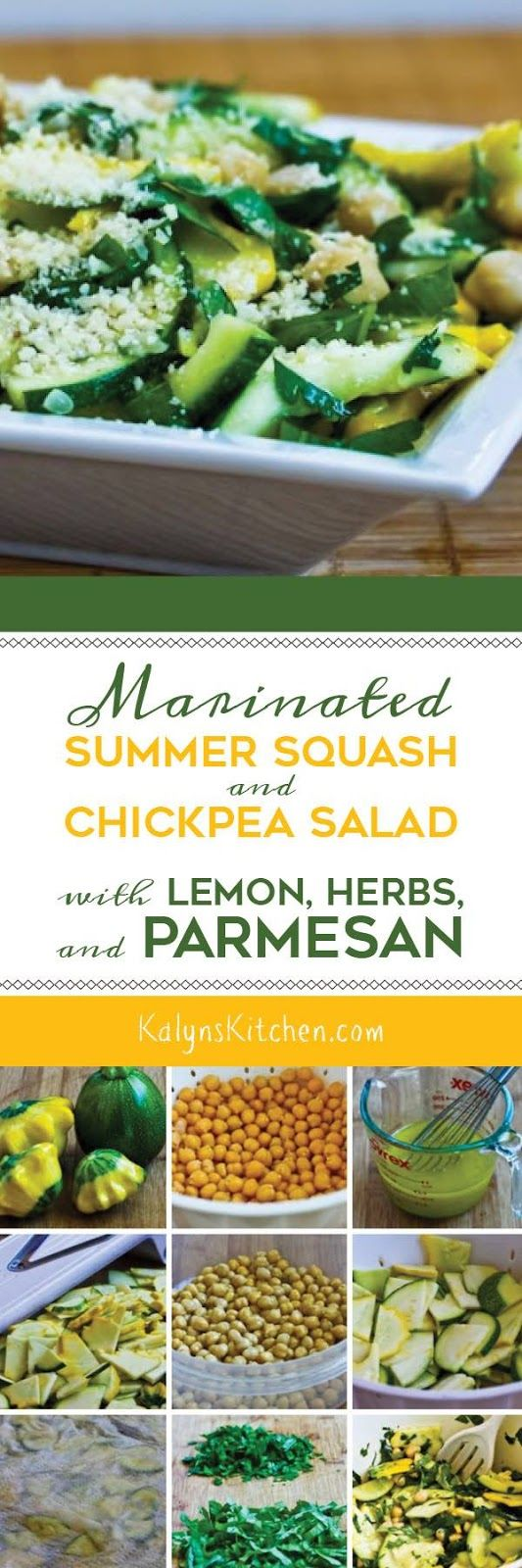 Healthy Recipes : Marinated Summer Squash and Chickpea ...