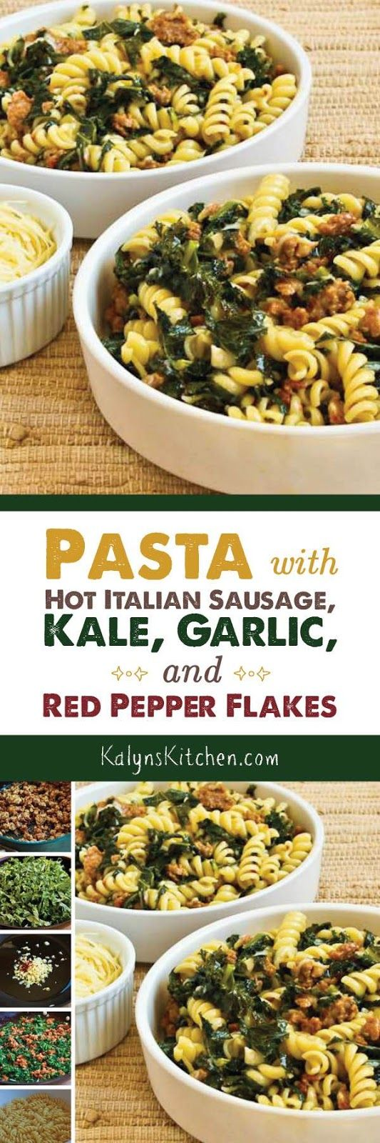 healthy recipes pasta with hot italian sausage kale